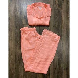 Pink Victoria's Secret Small Pajama Top And Bottom